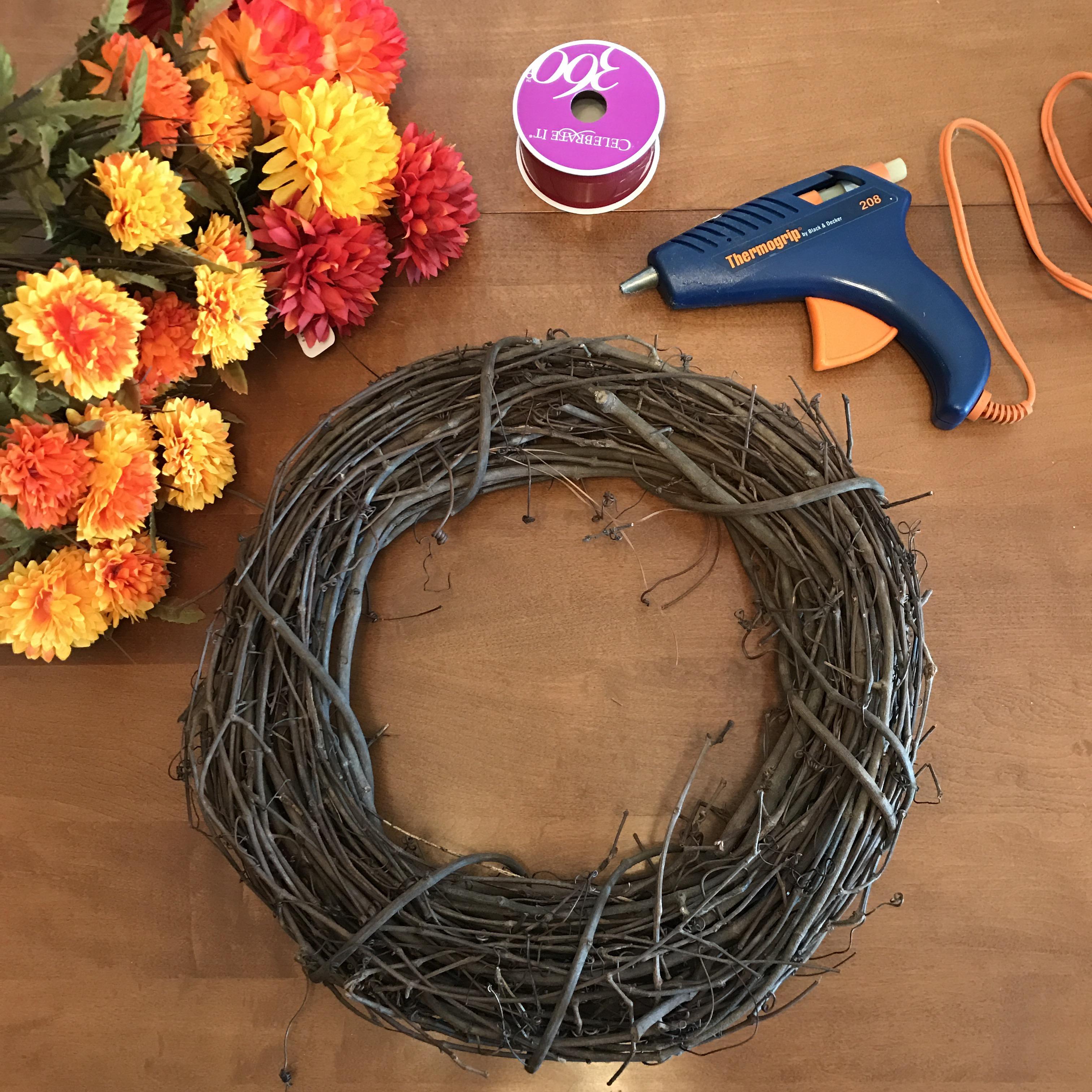 15 Minute 15 Diy Autumn Wreath Home Sweet Gomez