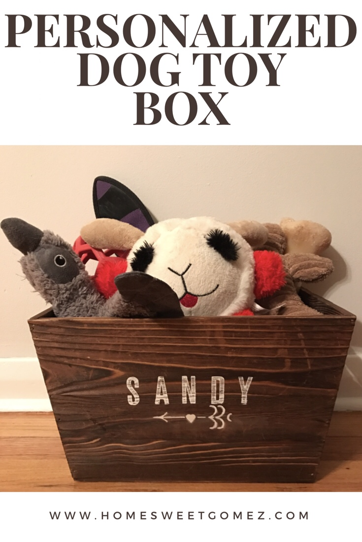 This Week's Pet Project: Personalized Dog Toy Box